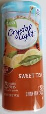 NEW CRYSTAL LIGHT SWEET TEA BLACK TEA DRINK MIX 12 QUARTS FREE WORLD SHIPPING