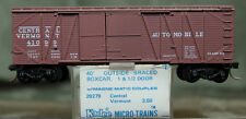 29279 Micro Trains N 40' Boxcar 1 1/2 Dr Central Vermont 41099 Kadee Blue Label