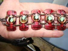 VINTAGE Magnifique Bracelet Emaux créateur TBE