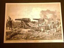 Grandi manovre militari in Italia nel 1887 Assedio di Verona Obice da 21 cm