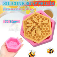 3D Bee Honeycomb Silicone Fondant Chocolate Cake Mold Clay Candle Soap