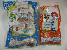 McDonald's Disney Toy Story 2 Candy Dispensers 2 Lot  Woody & Bullseye a Jessie