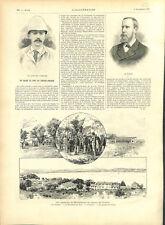 Rapatrié Madagascar Lazaret de Toulon Capitaine Lothaire et Stokes GRAVURE 1895