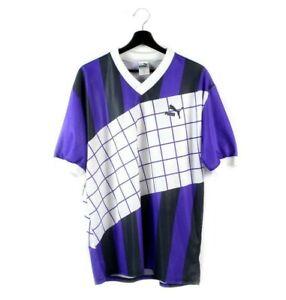 80s PUMA vintage t-shirt jersey V-neck soccer tshirt tee West Germany OG L XL
