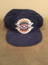 Vintage Chicago Bears Super Bowl XX Corduroy Snapback Hat Cap NFL Orange Blue