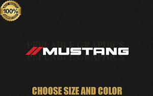 "Ford MUSTANG decal sticker 2 COLOR Logo Graphic 5"", 7"", 9"", 11"", 13"""