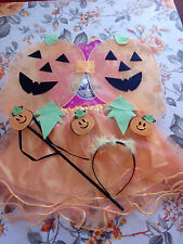 Costume Kit Set Zucca Bambina Carnevale Travestirsi Vestito Halloween child