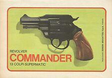 X4712 Revolver COMMANDER - Edison giocattoli - Pubblicità 1975 - Advertising