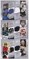 08-09 SP Game Used Dion Phaneuf Zdeno Chara /100 Jersey Duos Bruins Flames 2008