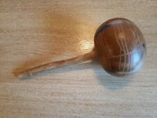 ANTIQUE HAND MADE COCONUT AND WOOD MARACA FROM BERMUDA