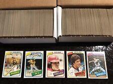 1980 Topps Baseball Complete Set, Rickey Henderson RC!