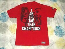 T Shirt WWE Wrestling Daniel Bryan & Kane Team Hell NO! Red Large