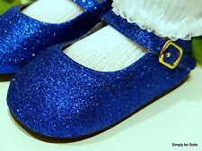 "**SALE** MY TWINN Blue Sparkle MARY JANE DOLL Dress SHOES fits 23"" Poseable Doll"