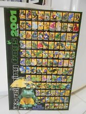 """It'S Reigning Frogs 2001 Toledo Ohio Limited Edition Poster On Board 34"""" X 22"""""""