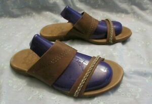 Women's MERRELL Brown Leather Sandals Size 8