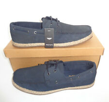 Zapatos De Cuero Azul Marino para Hombre Real Gamuza Nuevo Cubierta Casual RRP £ 50 UK Tamaños 7-11