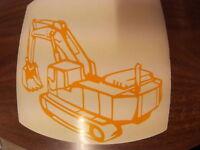 Hyundai 130 Excavator 13 Ton Excavator Digger,  logos decals window sticker ,