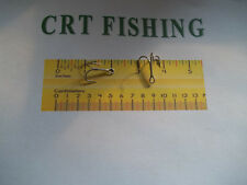 50 Eagle claw 955M 3X Nickle Treble Hooks size 1 lure or plug replacement hooks