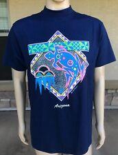 Euc Vintage 90s 1991 Arizona Neon Gecko Single Stitch 50/50 T Shirt Wild Hare Xl