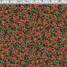 AUTUMN LEAVES Red Green Fabric ~ FQ