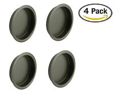 "Nuk3y Easy Snap in Closet Door Finger Pull, 2-1/8"", 4-pack (Oiled Rubbed Bronze)"