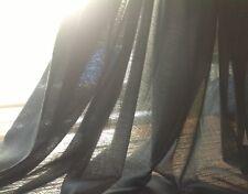 10m Nero egiziano DRAPPEGGIO mussola - 100% cotone Inclusa