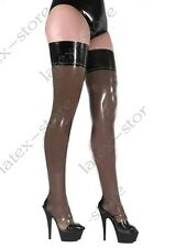 273 Latex Rubber Gummi maids Ruffles Stocking thigh-highs customized socks 0.4mm