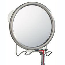 New Interdesign Forma Suction Fog Free Mirror W/ Razor Toothbrush Holder 42070