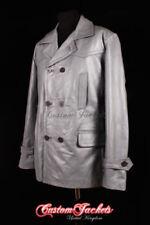 Abrigos y chaquetas de hombre grises de piel color principal gris