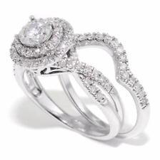 Gorgeous 2 Pcs 0.90 CTW Round DIAMOND Halo Wedding Engagement Ring set 14K Gold