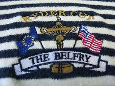 Slazenger Short Sleeve Cotton 2001 Ryder Cup Belfry Striped Golf Polo Shirt XL
