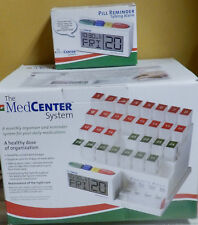 31 DAILY MedCenter System Monthly Pill Organizer Pill Dispenser & Reminder Alarm