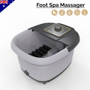 Electric Foot Spa Massager Roller Scrapping TCM Heat Soak Home Bath Tub Massage