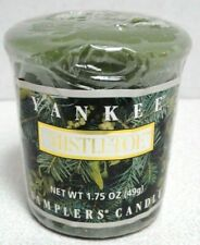 YANKEE CANDLE MISTLETOE VOTIVE NEW SEALED HARD TO FIND
