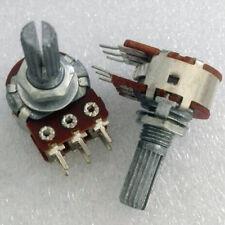 1pcs A-50K Audio Potentiometer Panel Mount Dual Step Deck A50k Rotary Pot 2x50K