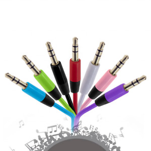 Headphone Aux Cable Audio Lead 3.5mm Jack to Jack Stereo PC Car Male 1 meter
