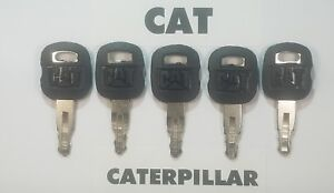 (5) CAT Keys Caterpillar Excavator, CAT Dozer, CAT Roller Key, CAT Backhoe Key