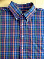 J.A.Bank Men's Shirt L Long Sleeve Button Down 100%Cotton Plaid.