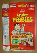 POST  FRUITY PEBBLES ~ 1992 BASEBALL CARD OFFER~FLINTSTONES