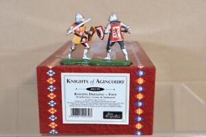 BRITAINS 40239 KNIGHTS OF AGINCOURT DUELLING Knights GREY vs VAUDEMONT nv