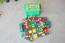 4.7 Pounds LEGO Duplo Blocks w/ Plastic Tote Box Blocks