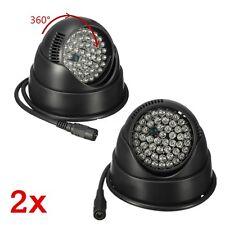 2pcs 48 LED Infrared Bright Illuminator Night Vision Security CCTV Camera Light