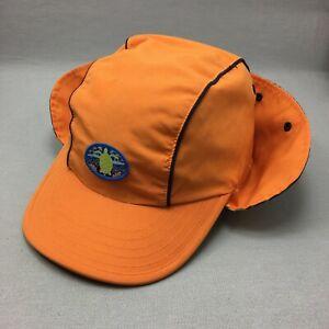 Gymboree Hat Cap Stretch Infant Baby Childs 18 3T Orange Neck Sun Protection