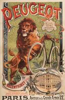Original Vintage Poster - F. Tamagno - Peugeot Cycle - Lion - Bicycle - 1895