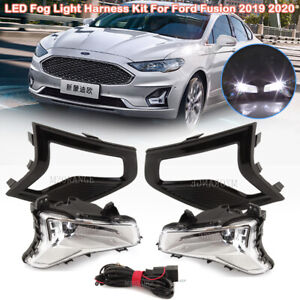 LED Fog Light Wiring Assembly Kit For Ford Fusion 2019-2020 Bumper Driving Lamps