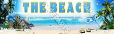 """The Beach Poster 30"""" x 8.5"""" Personalized Custom Name Painting Printing"""