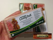 M00382x3 MOREZMORE 3 lb Living Doll BEIGE Polymer Clay Super Sculpey