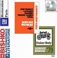 1979 Chevrolet Caprice Nova Shop Service Repair Manual CD Engine Drivetrain OEM