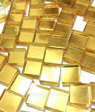 50g Mirror Golden Mosaic Vitreous Tiles 10x10mm Craft Art Rhinestone Gem #40