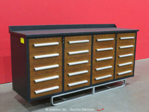 Steelman 20-Drawer 7FT Steel Work Bench Tool Cabinet Shop Box bidadoo -New